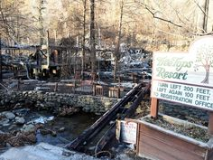 Destruction TreeTops Resort in downtown Gatlinburg