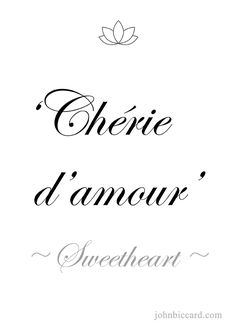 ♔ 'Sweetheart' French Words Quotes, One Word Quotes, French Sayings, How To Speak French, Learn French, New Words, Love Words, Common French Phrases, Foreign Words