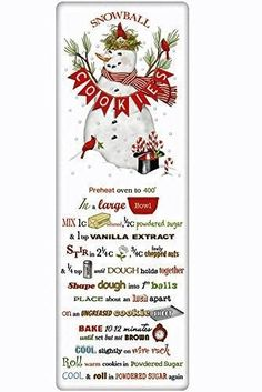 Mary Lake Thompson Flour Sack Recipe Towel - Christmas Snowball Cookies #ChristmasRecipes