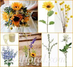 #yellow wedding #sunflower #afloral http://blog.afloral.com/inspiration-boards/jennifers-rustic-sunflower-inspiration-board/