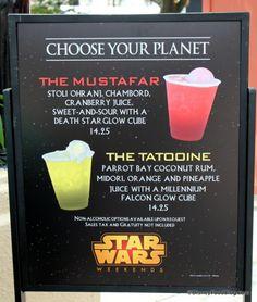2015 Star Wars Weekend Specialty Drink Menu