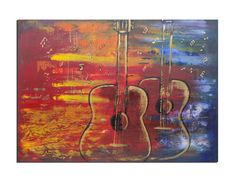 ON SALE large modern art painting, original abstract painting guitar, music… Original Artwork, Original Paintings, Modern Art Paintings, Online Art, Red And Blue, Art Gallery, Wall Decor, Hand Painted, The Originals