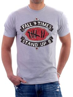 Fall 7 Times Stand up 8 sports t shirt. #sports t shirts