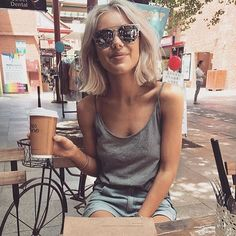 Still a favourite: @laurajadestone in our BLAKE sunglasses. www.wavvse.com