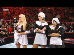 ▶ WWE Raw Michelle Mccool & Layla & Jillian Vs Melina & Kelly Kelly & Mickie James - YouTube