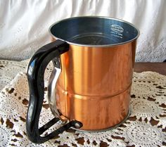 Vintage Copper Flour Sifter Androck 1950s by cynthiasattic on Etsy, $55.00