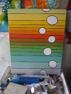 How to make a painting in three (or more) easy steps. I love the way this looks!