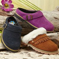 Sweet little feet look extra darling when they are click-clacking along in clogs. Versatile enough to wear with frilly dresses or denim, these classic shoes are a favorite pick of both girly girls and tomboys. From handmade styles sent from Sweden with love to leather slip-ons with cozy faux fur linings, find your little sweetie her perfect pair to take on the day.