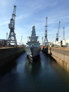 Royal Navy's Welsh flagship, HMS Dragon reached a major milestone in her 12 month refit on January 11th, emerging from dry dock in Portsmouth Naval Base. Currently seven months into an extensive maintenance period, the 'flood-up' evolution saw water surge through the dock gates and the Type 45 Destroyer float on the water for the first time since entering dry dock in October last year.