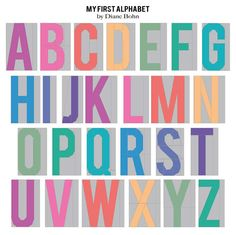 My First Alphabet -  A Paper Piecing Alphabet Pattern by Diane Bohn - INSTANT DOWNLOAD via Etsy