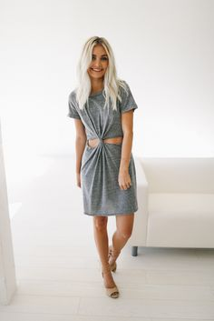 Grey Knot Dress