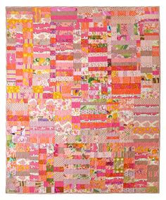 Gertrude quilt by Leslie Schmidt, mixed floral fabrics and scraps