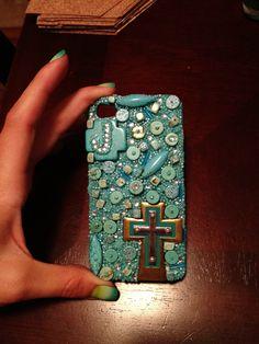 My turquoise DIY iPhone case :-)