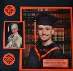 Here is a new twist for your DIY Graduation Scrapbook Layout.