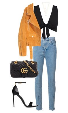 """Untitled #5667"" by lilaclynn ❤ liked on Polyvore featuring Levi's Made & Crafted, SKINN, Natalie B, Gucci and gucci"