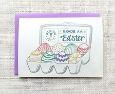 Hand Illustrated Easter Greeting Card - Etsy