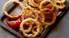 We fried them! Get this all-star, easy-to-follow Oven Fried Onion Rings recipe from Jeff Mauro