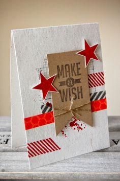 UK Independent Stampin' Up! Demonstrator - Julie Kettlewell: Gorgeous Grunge - Make a Wish - Birthday