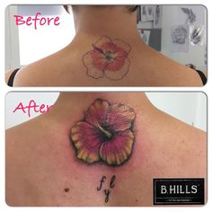 #Coverup #Tattoo #Ibiscus #fly #ColorTattoo #TattooArtist #Tattoo #ink #ladyoktopus#art #larabhills #lettering #Bhillstattoo #TattooCittadella