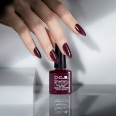 #CND #CNDnightspell Perfectly Polished. Shade shown - Berry Boudoir.