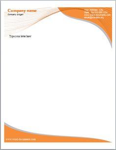 microsoft letterhead templates free