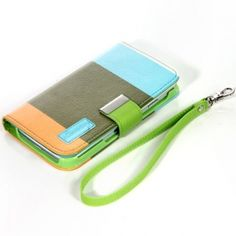Colorful Leather Wallet Case with Stand for Samsung Galaxy S4 $8.99