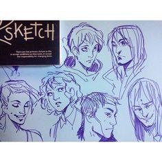 Яна, Разумовский, Ора, Лиля, Саша, Соловей. #sketch #art #bubblecomics