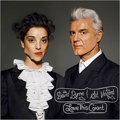 There's a lot going on here, from the beast-and-the-beauty photo by Richard Burbridge, featuring prosthetics by Gabe Bartalos that mangle Annie Clark's face and cleave David Byrne's chin, to Steve Powers's type with its little hats-and-shoes decorations. But the artwork effectively conveys the album's premise: dignified, deeply quirky duets.