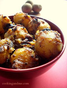 Spicy Baby Potatoes Indian-Style