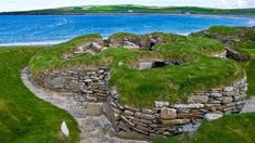 Stone-age settlement Skara Brae in the Bay of Skaill, Orkney Islands, Scotland, UK, 17487d537737ec89e910476656efe428