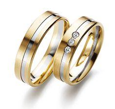 Gerstner trouwringen twee kleuren