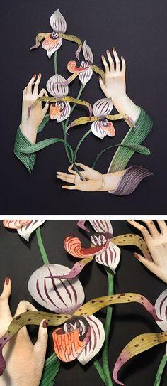 Paper art by Andrea Wan // surreal paper craft // paper sculpture