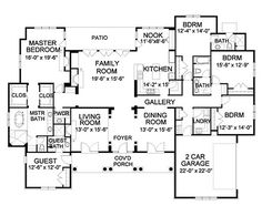 Traditional Style House Plan - 5 Beds 4.50 Baths 3538 Sq/Ft Plan #490-3 Floor Plan - Main Floor Plan - Houseplans.com