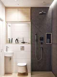 The shades of gray - tiny / small scandi inspired bathroom