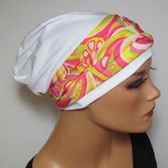 BEANIE/MÜTZE  mit Band ideal nach Chemo Alopezie  von Kopf & Kragen Design auf DaWanda.com