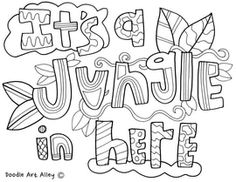 Bulletin Board Themes Coloring Pages at Classroom Doodles Safari Bulletin Boards, Preschool Bulletin Boards, Safari Crafts, Jungle Crafts, Jungle Classroom Door, Classroom Themes, Preschool Lessons, Kindergarten Classroom, Jungle Safari