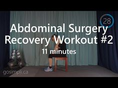 Post Abdominal Surgery Workout Series 2 - YouTube