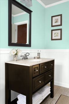 Benjamin Moore Water Drops - Trying to find the right color for the bathroom