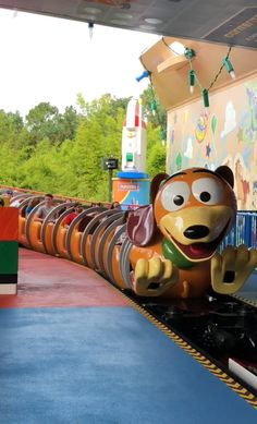 Classic slinkey roller coaster from toy story in disney world Walt Disney, Disney Love, Disney Magic, Disney Parks, Disney Pixar, Disney World Rides, Disney World Vacation, Disney Vacations, Disney Worlds