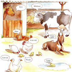 ¡Guau, guau!   onomatopeyas de los animales