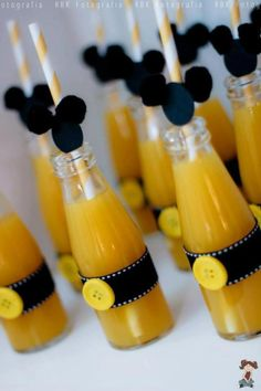 Garrafinhas de Sucos Mickey Mouse