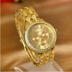 2014 New Arrivals Women Watches,GENEVA Steel belt Watches,Fashion Gift Watch,Free Shipping Dropshipping-in Wristwatches from Watches on Aliexpress.com