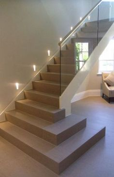 Top 10 Unique Modern Staircase Design Ideas for Your Dream House Modern Stairca. Top 10 Unique Modern Staircase Design Ideas for Your Dream House Modern Staircase Design Ideas – Staircases are so common that you don't give them a second thou Home Stairs Design, Railing Design, Interior Stairs, Staircase Design Modern, Modern Railing, Glass Stairs, Concrete Stairs, Stone Stairs, Glass Stair Railing