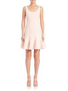 Akris punto Jersey Flippy Dress - Rose - Size 2