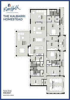 The Kalbarri Homestead Single Storey Home floorplan Ross North Homes
