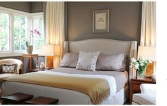 C.B.I.D. HOME DECOR and DESIGN - love the bed - paint color is Benjamin Moore Sparrow