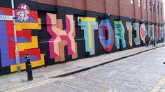 Ben Eine - EXTORTIONISTS in Shoreditch, London.