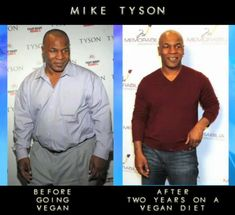 Mike Tyson before and after becoming VEGAN!