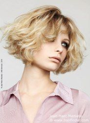 Bob haircut with volume for blonde hair via @Hairfinder Connect #EMSalon EliseMarcusSalon.com