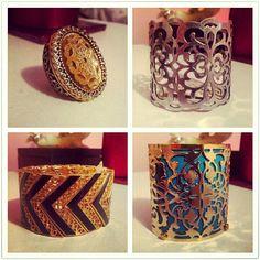 Chevron & Filigree Statement Jewelry